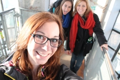 Mel, Abbie, and I after taking the stairs to the very peak of the dome. (I didn't get any good pictues due to wires being around the windows.)